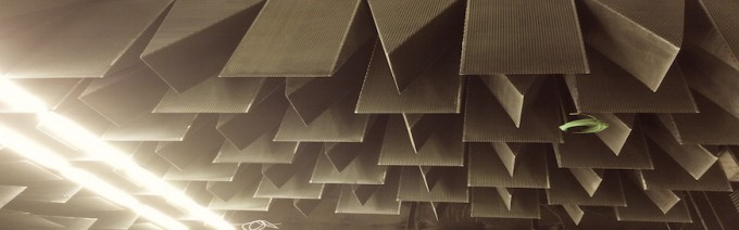 Anechoic chambers absorption
